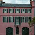 Charleston Rainbow Row Pink House - Georgian Row Houses  by Dale Powell