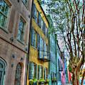 Charleston Sc Rainbow Row Landmarks South Carolina Art by Reid Callaway