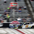 Chase Elliott Crossing The Finish Line At T M S by Paul Quinn