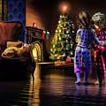 Checking On Santa's Arrival by Ken Morris