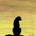Cheetah Sunset by D Hackett