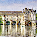 Chenonceau From The East - Vintage by Weston Westmoreland