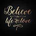 Cher - Believe Gold Foil by Gabrielle D