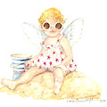 Cherub In The Sand by Carolyn Shores Wright