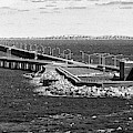 Chesapeake Bay Bridge Tunnel E S V A Black And White by Bill Swartwout Photography