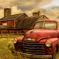 Chevrolet In The Countryside Oil Painting by Debra and Dave Vanderlaan