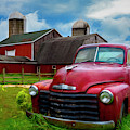 Chevrolet In The Countryside Painting by Debra and Dave Vanderlaan