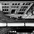 Chicago L Train On Tracks by Photo By John Crouch