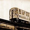 Chicago Metra Sepia by Mary Pille