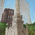 Chicago Water Tower 1c by Jeffrey Oleniacz