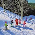 Childrens Ski Lesson, Courchevel To La Tania  by Andrew Macara