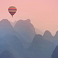 China, Guilin Karst Mountains by Michele Falzone