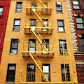 Chinatown Fire Escape New York City by John Rizzuto