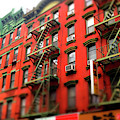 Chinatown Red Brick Building New York City by John Rizzuto