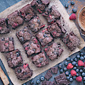 Chocolate Raspberry And Blueberry Brownies by Tim Gainey