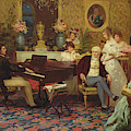 Chopin Playing The Piano In Prince Radziwills Salon by Hendrik Siemiradzki