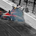 Chris Windom And David Malukas Crash Indy Lights Freedom 100 by Blake Richards