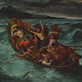 Christ Asleep During The Tempest  by Eug  ne Delacroix