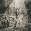 Christ Crucified Between The Two Thieves   The Three Crosses          by Rembrandt Harmensz  van Rijn