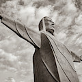 Christ Of The Ozarks - Eureka Springs Arkansas In Sepia by Gregory Ballos