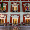 Christmas Decorations On Presidential Palace La Paz by James Brunker