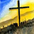 Christian Cross 2 by Asha Sudhaker Shenoy