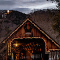 Christmas Evening Over The Woodstock Covered Bridge by Jeff Folger
