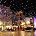 Christmas Lights In Casco Vello Vigo Spain by James Brunker
