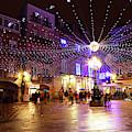 Christmas Lights In Historic Centre Of Vigo Spain by James Brunker