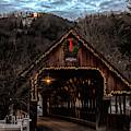Christmas Star Above Woodstock Covered Bridge by Jeff Folger
