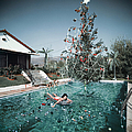 Christmas Swim by Slim Aarons