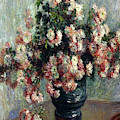 Chrysanthemums 1882 By Claude Monet by Claude Monet