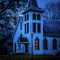Church At Night by James L Bartlett