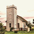 Church In Bowman North Dakota by Jeff Swan