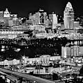 Cincinnati Covington And Ohio River by Frozen in Time Fine Art Photography