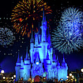 Cinderella Castle Fireworks by Mark Andrew Thomas