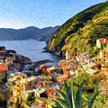 Cinque Terre Vernazza Italy - Dwp2922447 by Dean Wittle