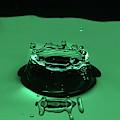 Circle Water Dance Green by Louis Cruz III
