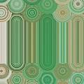 Circles Of Green And Tan by Rachel Hannah