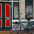 City Bike Downtown Painting by Debra and Dave Vanderlaan