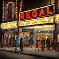 City - Chicago Il - Nightlife At The Regal Theater 1941 by Mike Savad