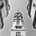 City Hall In Center City Philadelphia In Black And White by Bill Cannon