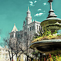 City Hall Park View In New York City by John Rizzuto