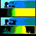 Cityscapel 4000 Original Fine Art Painting Digital Abstract Triptych by G Linsenmayer