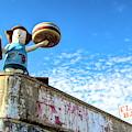 Clam Bar Theme Park Coney Island  by Chuck Kuhn