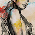 Cleansing Undertones - Zentangle Nude Girl Drawing by Marco Paludet