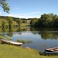 Clerklands Loch, Near Selkirk, Scottish Borders by Victor Lord Denovan
