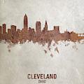 Cleveland Ohio Rust Skyline by Michael Tompsett