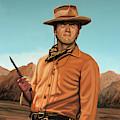 Clint Eastwood Painting 2 by Paul Meijering