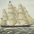 Clipper Ship, Flying Cloud, Published 1852 by Currier and Ives